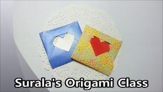 Origami - Love Letter (heart) / 종이접기 - 러브레터 (하트 편지)