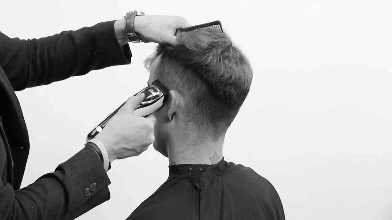 Cutting curly Mens hair - mens haircut - clipper cut