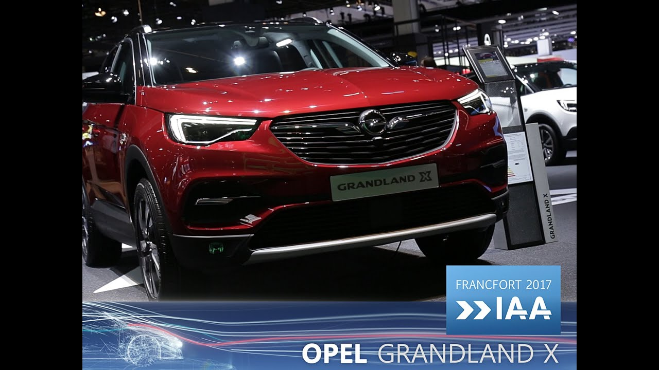 opel grandland x en direct du salon de francfort 2017 youtube. Black Bedroom Furniture Sets. Home Design Ideas