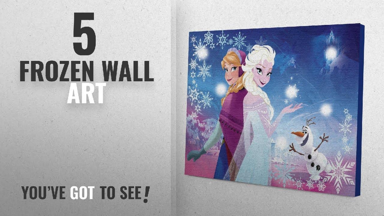 Top 10 Frozen Wall Art [2018]: Disney Frozen Canvas LED Wall Art