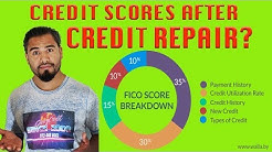 What will my #creditscores be after credit repair? Credit Scores Explained after repair #gizzycredit
