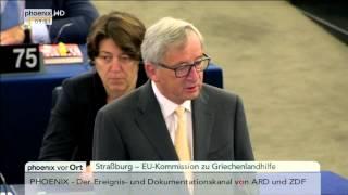 Griechenlandkrise: Rede von Jean-Claude Juncker gegen einen Grexit am 07.07.2015