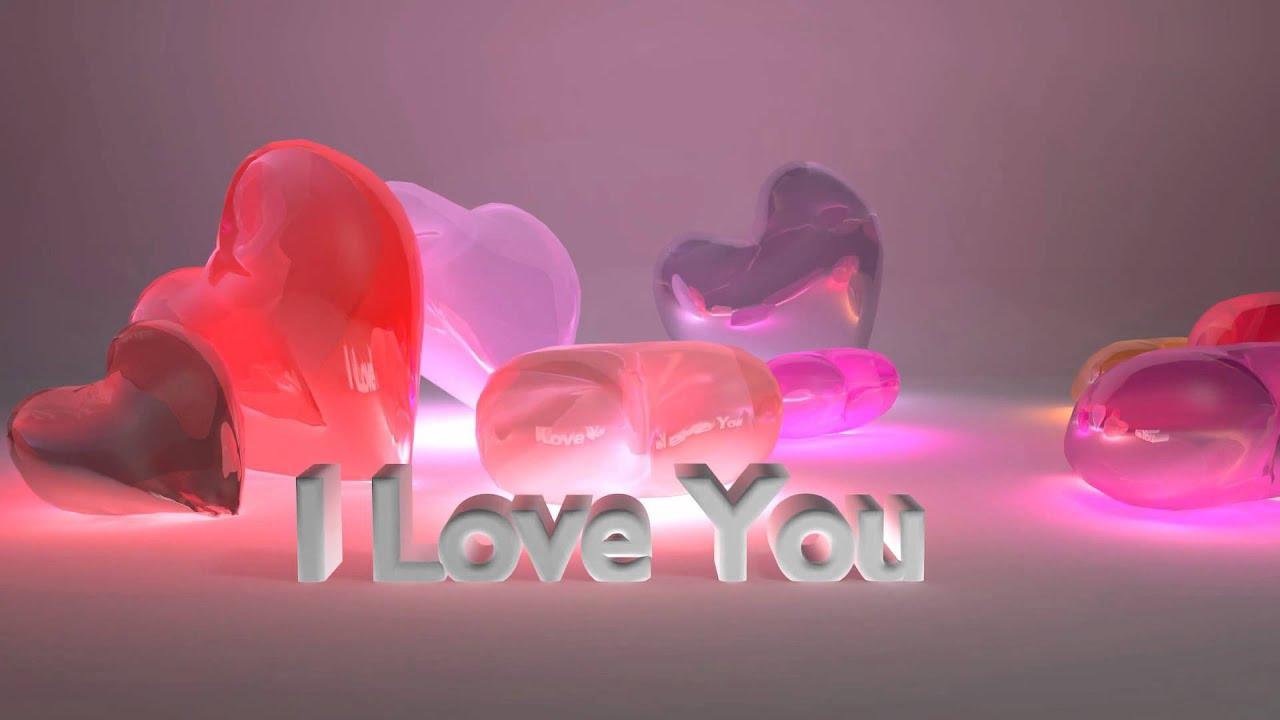 i love you - falling candy hearts - ecard - youtube