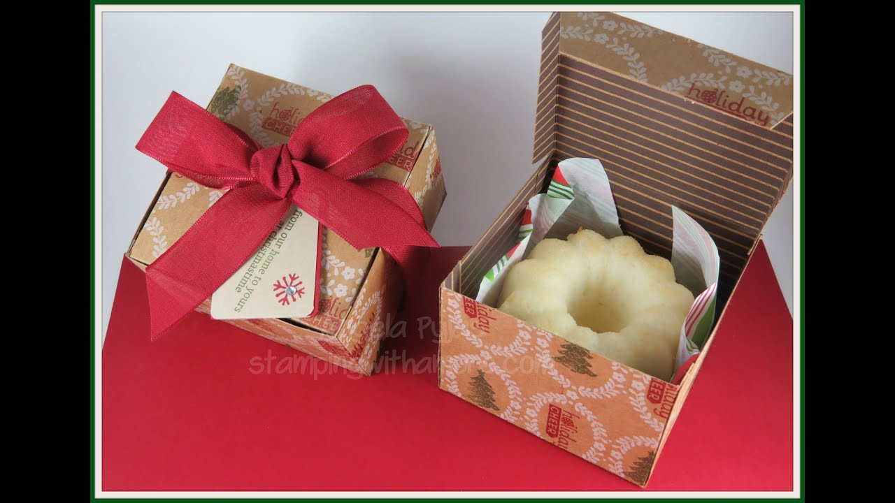 Mini Bundt Cake Christmas Box - YouTube