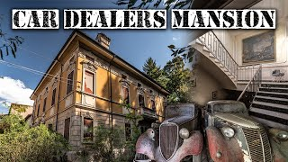 Abandoned Italian Car Dealers Mansion (1900s CLASSIC CARS FOUND)