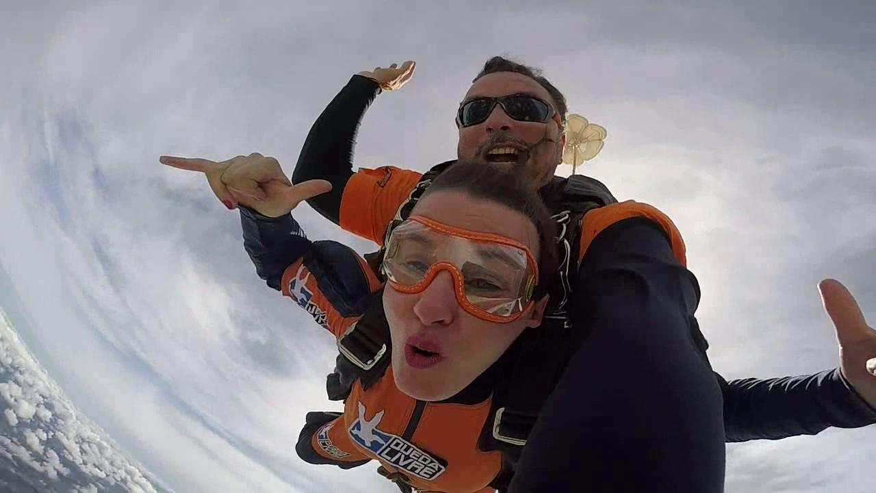Salto de Paraquedas da Eliana na Queda Livre Paraquedismo 25 01 2017