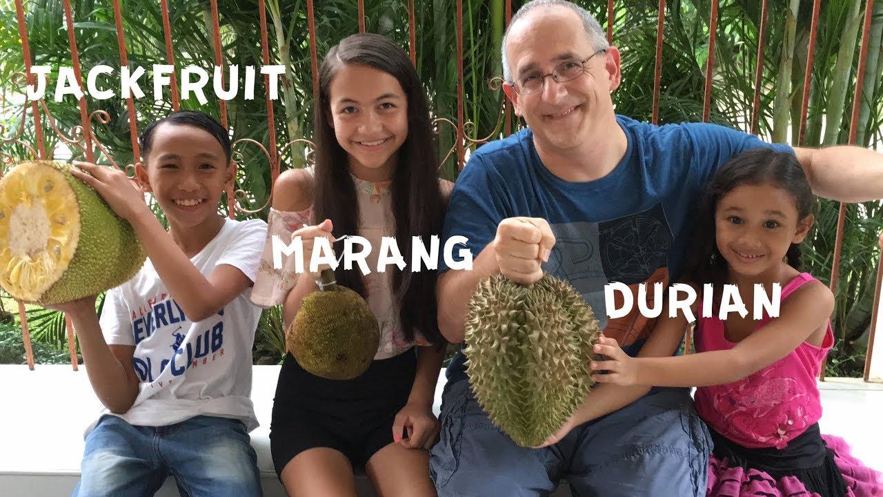 Durian | Jackfruit | Marang | Tasting fruits from the ...