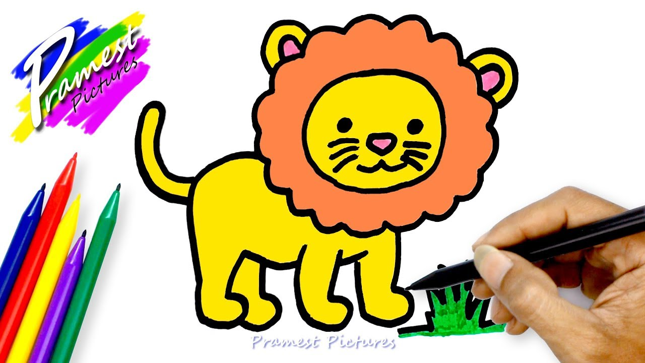 Lion ☆ Drawing And Coloring For Kids