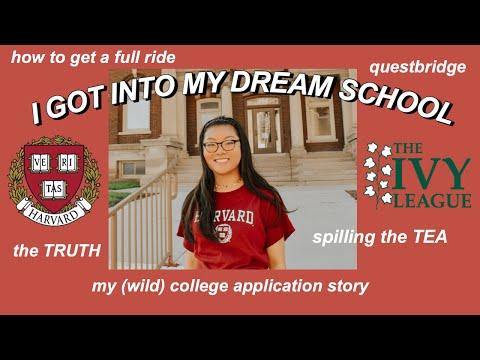 I GOT INTO MY DREAM SCHOOL (full ride to harvard) thumbnail