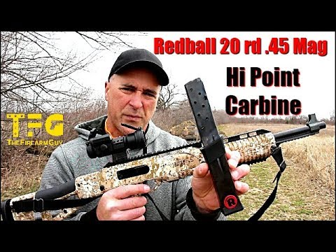 Redball 20 rd  45 ACP mag for the High Point Carbine - TheFireArmGuy