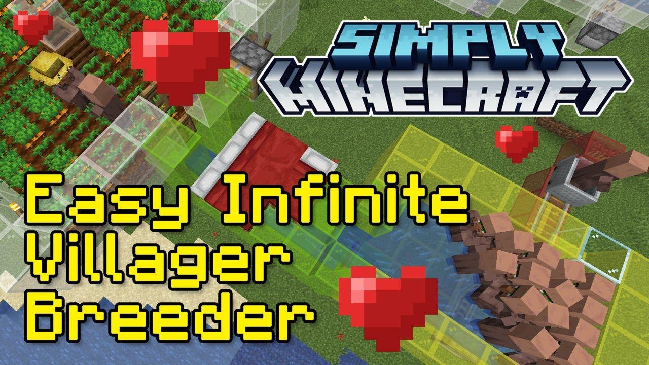 Easy Infinite Villager Breeder Tutorial  Simply Minecraft (Java Edition  8.86)
