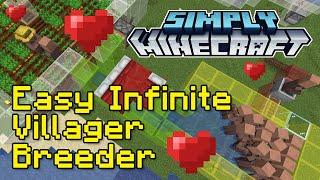 Easy Infinite Villager Breeder Tutorial | Simply Minecraft (Java Edition 1.16)