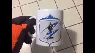 видео чашки с логотипом