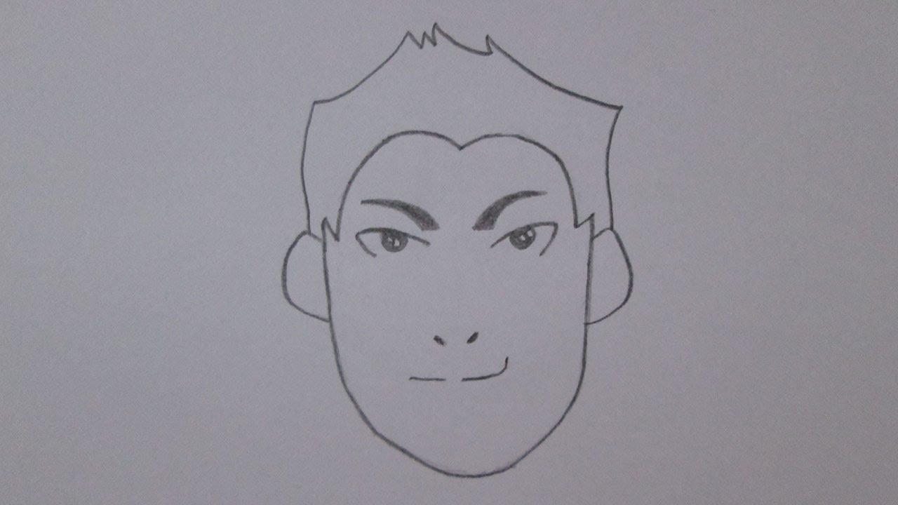 Como Desenhar Um Rosto Masculino Youtube
