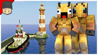 Hermitcraft 7 | Ep.23: LIGHTHOUSE, TUGBOAT, GIFTS & TAG!