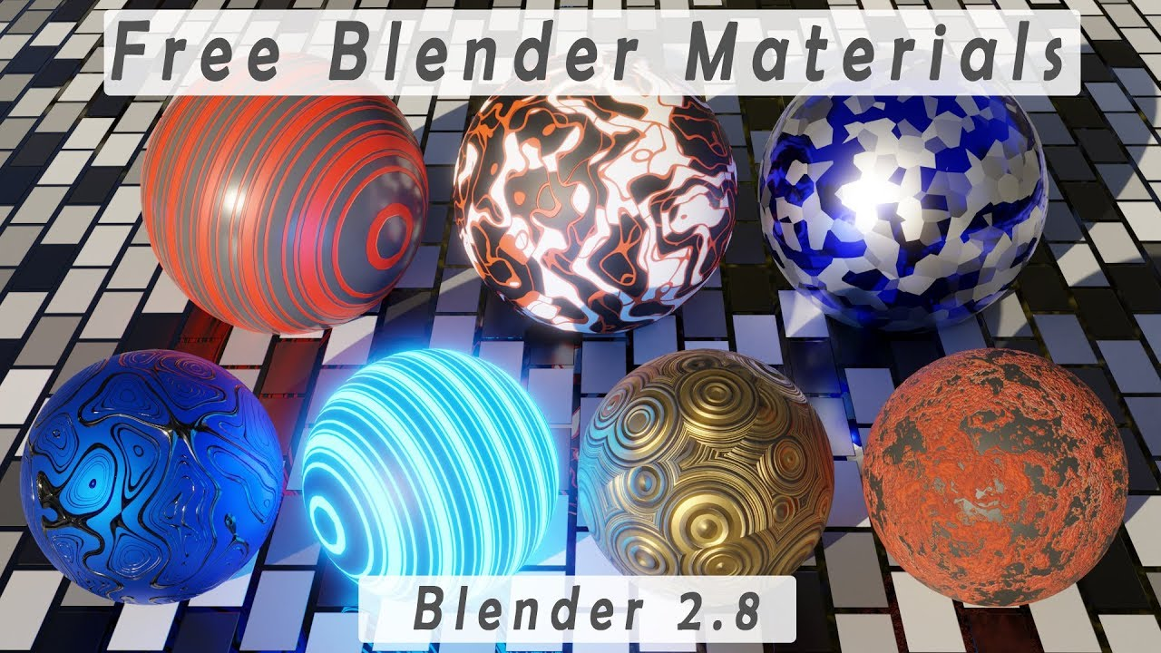 Free Blender Materials for blender 2 8 (Eevee and Cycles)