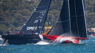 Comanche Leads Wild Oats XI Out of Sydney in The Rolex Sydney Hobart Yacht Race 2014