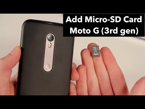 How to Insert Micro SD Card to Moto G (3rd Gen / 2015)