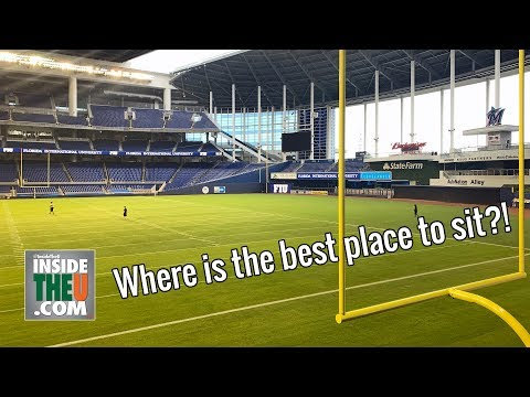 Marlins Park FOOTBALL Stadium Tour   Miami Hurricanes Vs. FIU Golden Panthers