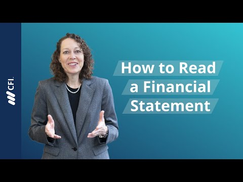 How to Read a Financial Statement - FREE Course | Corporate Finance Institute