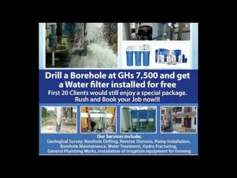 Bore Drilling service in ghana - Water treatment,pump installation. 0303966934 or 0244286003