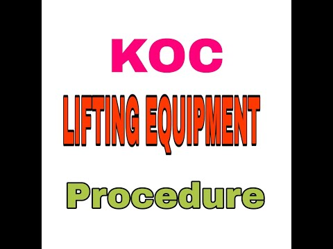 KOC LIFTING EQUIPMENT PROCEDURE