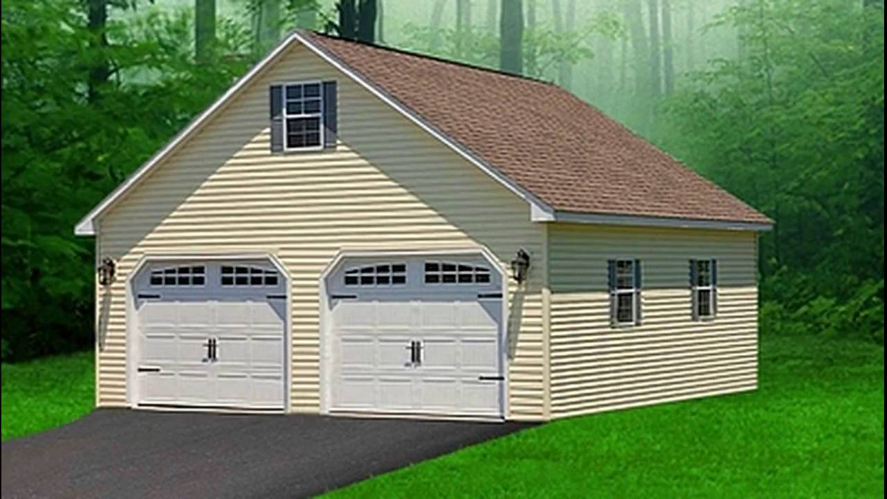 Two story garages pa prefab portable garages double for Two story double wide