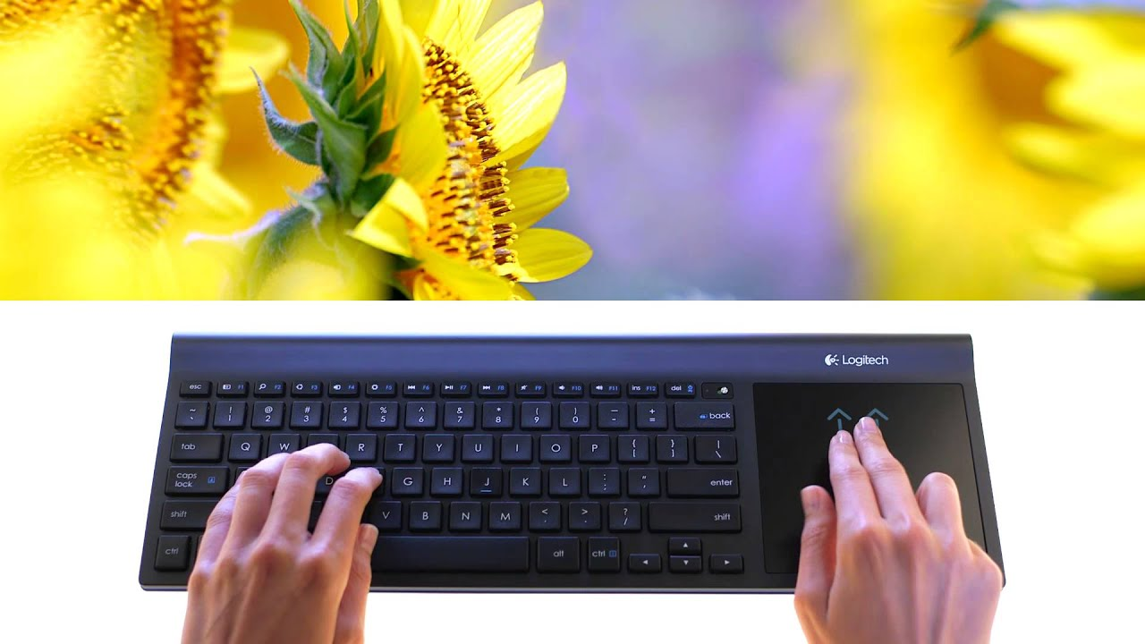 5211ef4b514 Logitech Wireless All-in-One keyboard tk820 - YouTube
