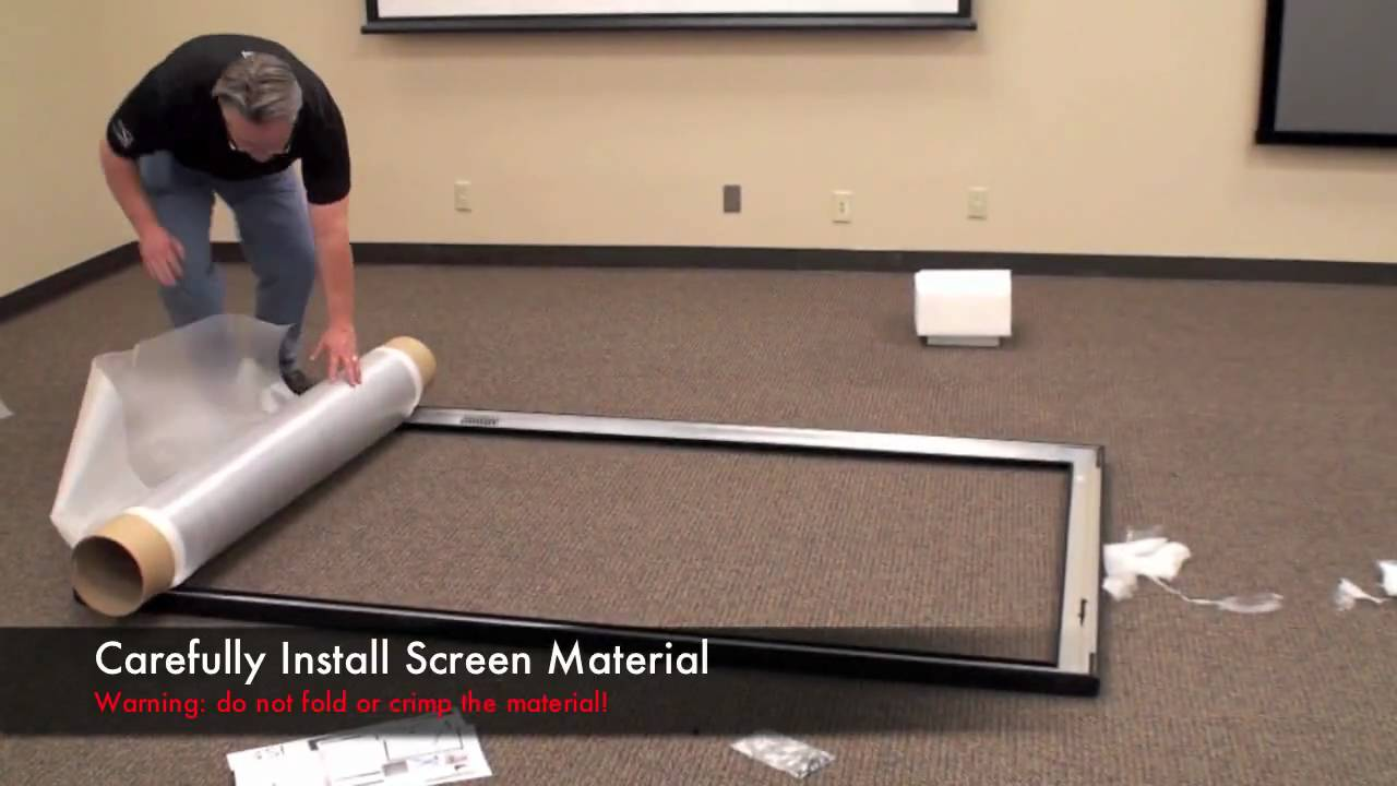 how to make a screen for a projector