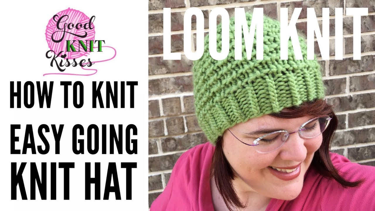 Loom Knit Easy Going Knit Hat Cc Youtube