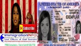 U.S. Passport Card | Immigration Lawyer Gail Seeram | Text-Call 407-292-7730