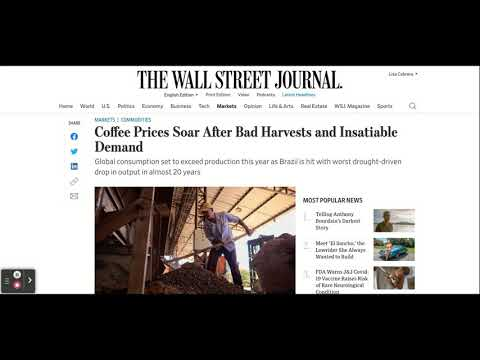 A Bad Coffee Harvest Will Send Prices Soaring