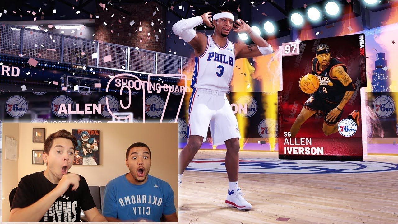 Pulling Pink Diamond Allen Iverson In The First Box Unreal Nba 2k19 Pack Opening Youtube