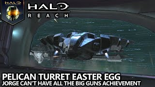Halo Reach - Pelican Turret Easter Egg - Jorge Can't Have All the Big Guns Achievement Guide