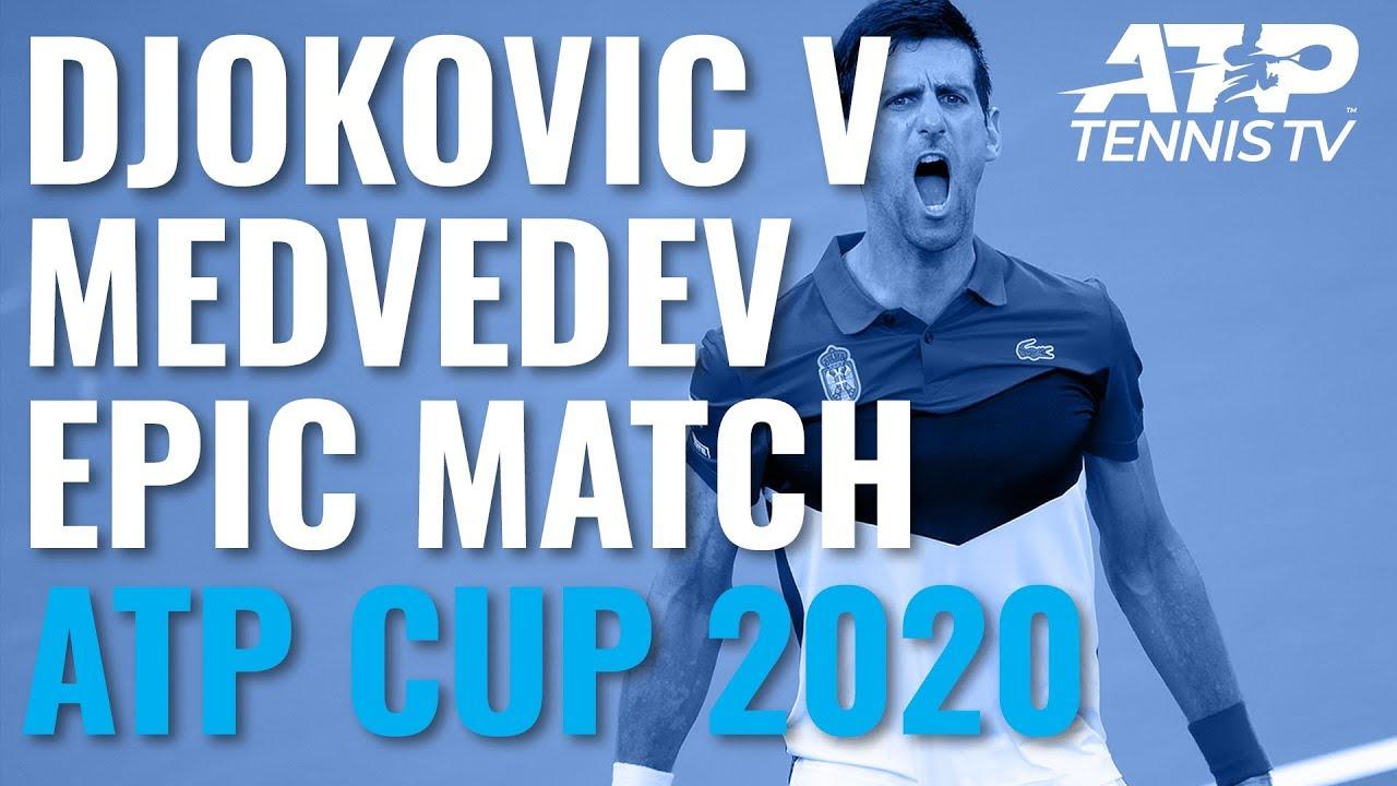 Novak Djokovic & Daniil Medvedev INCREDIBLE Rallies in Epic Match | ATP Cup 2020