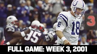 First Ever Brady vs. Manning Matchup! Week 3, 2001 FULL GAME