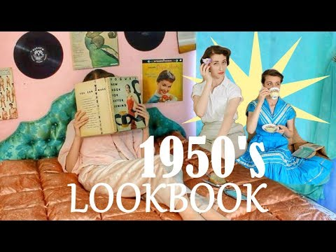 9 WAYS TO STYLE 1950's CASUAL VINTAGE OUTFITS ||  LOOKBOOK || - YouTube