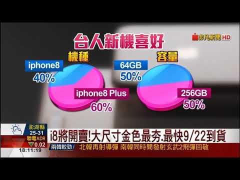 iPhone 8 台灣9月22日上市開賣 大尺寸金色最夯