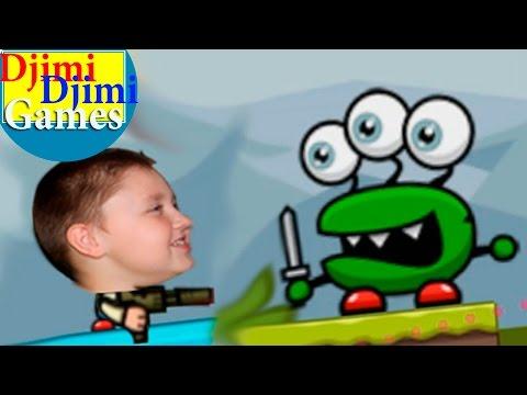 Game for kids. Cartoons. BOY vs. Aliens. Game shooter Shoot'n'Shout -16-20 ur game