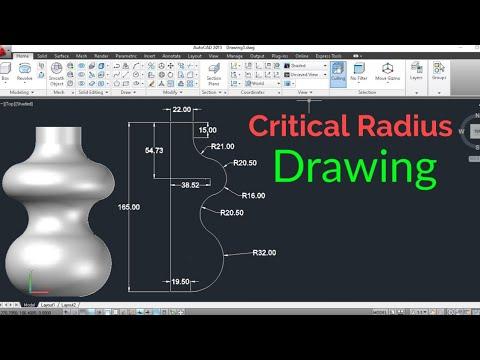 Autocad Drawing. AutoCAD Critical Radius Drawing. AutoCAD Tutorial in hindi. Autocad 3D in Hindi.
