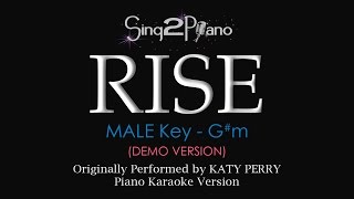 RISE (Male Key - Piano karaoke demo) Katy Perry