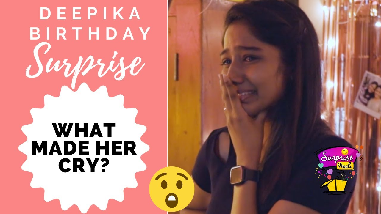 An Emotional Birthday surprise for Deepika | Birthday surprise for TikTok Deepika | Surprise Machi