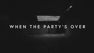 Lewis Capaldi - when the partys over (lyrics)