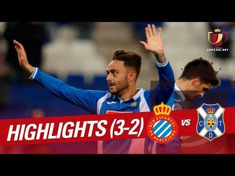 Resumen de RCD Espanyol vs CD Tenerife (3-2)
