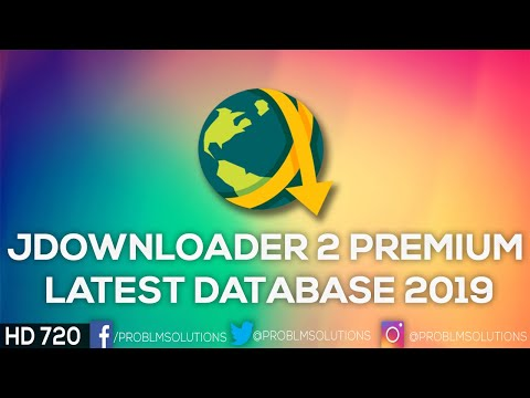 JDownloader 2 Premium Latest Database 2018