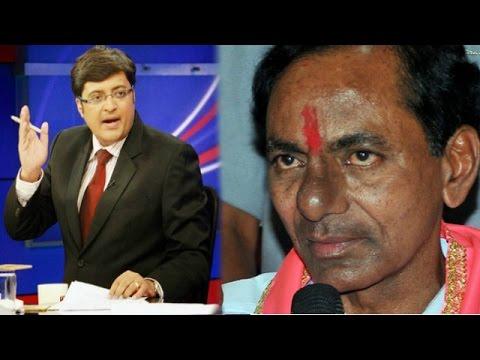 The Newshour Debate: Telangana CM K Chandrasekhar Rao Threatens Media (10th September 2014)