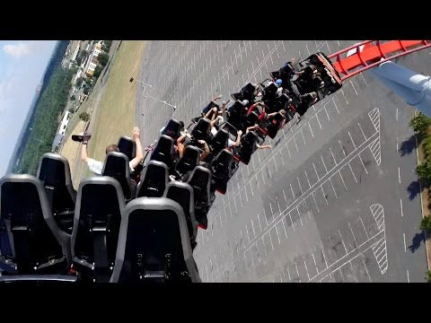 Intimidator Back Seat POV 2015 FULL HD Carowinds