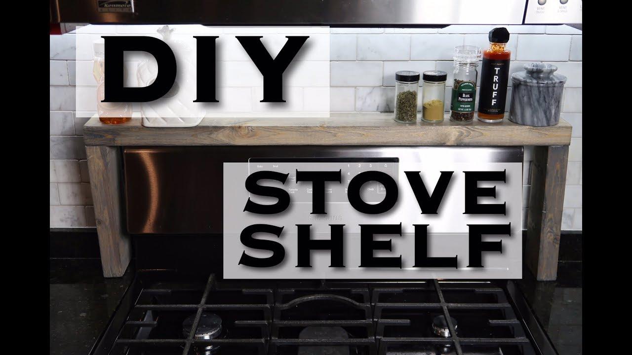 Diy stove shelf under 20