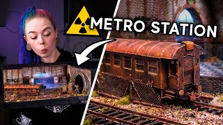 I Made a POST APOCALYPTIC Metro Station!!