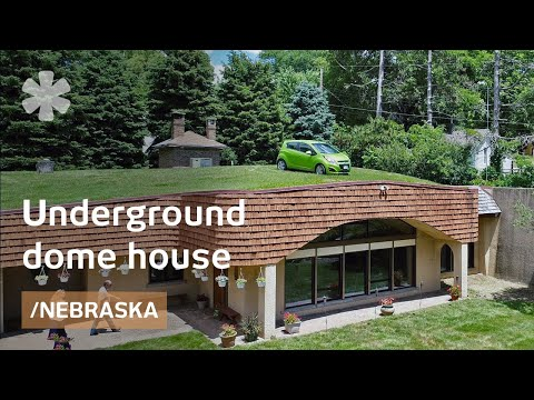 Underground dome house stays warm in Omaha winters on straw bale garage plans, brick garage plans, wood garage plans, earthbag garage plans, solar garage plans, adobe garage plans, green garage plans, construction garage plans, cordwood garage plans, geodesic dome garage plans, stone garage plans, concrete garage plans,